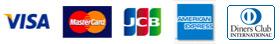 VISA MasterCard JCB AMERICAN EXPRESS DinnersClub
