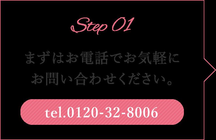 Step 01 まずはお電話で気軽にお問い合わせください。