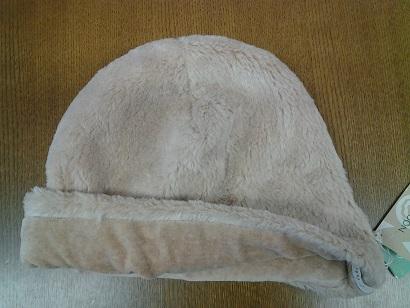 オーガニックコットン冬帽子 裏